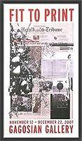 ポスター アーティスト不明 ハーレー Fit to Print2007 collage 額装品 ウッドベーシックフレーム(ブラック)