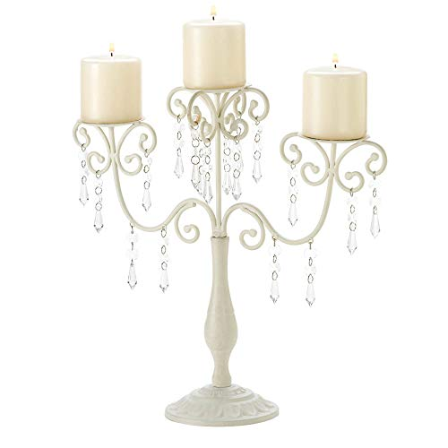 Accent Plus Ivory Candelabra Wedding Gift Centerpiece Candle Holder