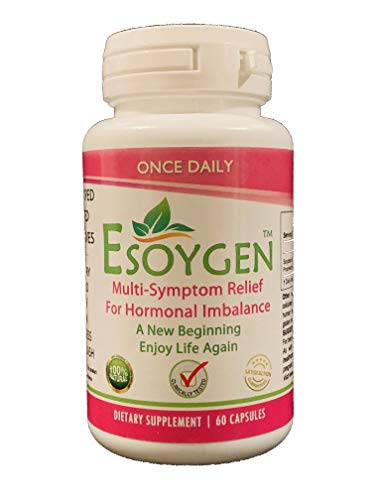 Esoygen Naturally Improves Hormone Imbalance, Energy, Memory, Mood, Hair Loss, Skin, Acne, Weight, Libido, Dryness, Itching, Hot Flashes, Aging and Menopause | 60 Capsules (60)