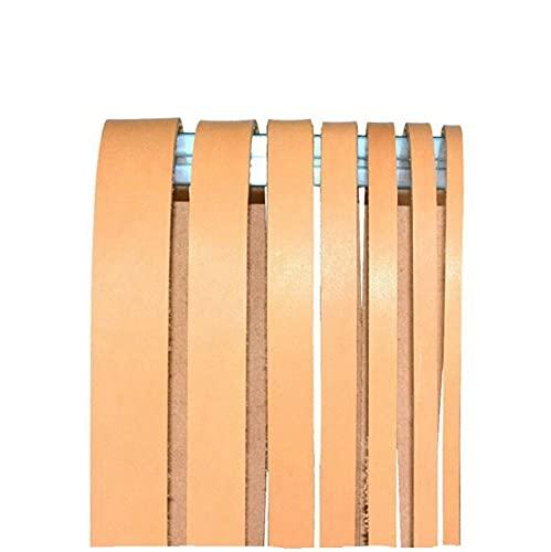 HKFG 1 Metro de Cuerda de Cuero Plano marrón Negro Hilo de Cuerda de Cuero Genuino para Hacer joyería DIY Pulsera 12/15/20/25/30/35 / 40mm
