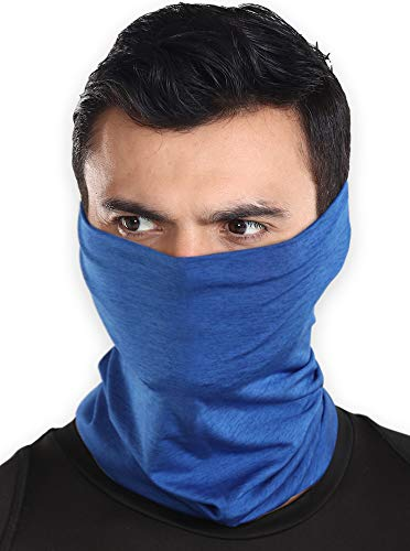 Cooling Neck Gaiter Face Mask - 12-in-1 Scarf & Head Cover/Wrap For Hot Summer Weather - UV Protection Running, Fishing & Hiking Bandana for Men & Women - Skin Cancer Foundation Recommended - UPF 50