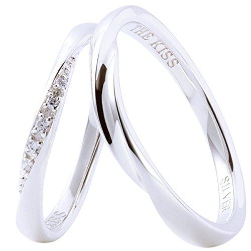 [ザ・キッス] THE KISS SR1844CB-1845 (Lady's:9号 Men's:15号) 結婚指輪 2個セット シンプル シルバー ペ...