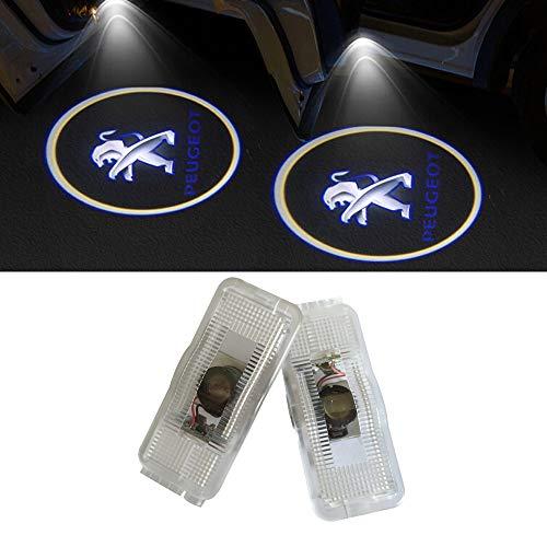 LIKECAR 2 Stück Autotür Logo Türbeleuchtung Projektion Licht Einstiegsbeleuchtung Projektor Auto Ghost Shadow Willkommen Licht (LK-407 Shadow)