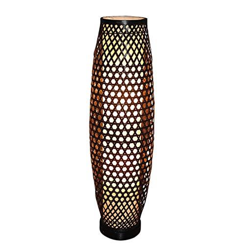 Lampadaire en bambou de style japonais du sud-est moderne jardin salon étude chambre lampe de bambou (Color : Brown)