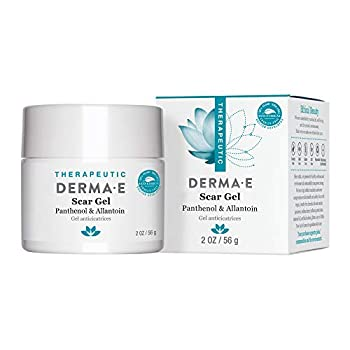 DERMA E Scar Gel - Therapeutic gel with Panthenol & Allantoin - Effective treatment & natural scar removal Treats acne scars burns tattoos callouses & stretchmarks