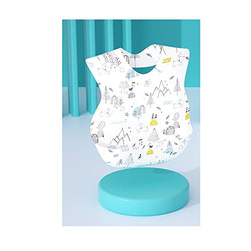 Disposable bib, baby food gown, baby waterproof bib, 30 tablets/box of saliva towel