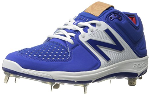 New Balance Men's L3000V3 Baseball Shoe, Black/White, 44 EU