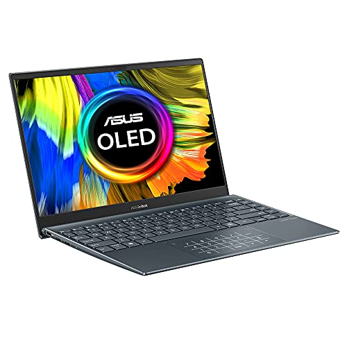 ASUS ZenBook UX325JA Full HD OLED 13.3' Laptop (Intel Core i5, 16GB RAM, 512GB SSD, OLED Screen, Backlit Keyboard, Windows 10) Includes USB-C to Audio Jack Adapter