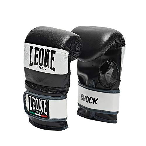 LEONE 1947 格闘技 ボクシング 本革使用 グローブ ユニセックス [ SHOCK ] バッググローブ ミット打ち サンドバッグ練習 ベルクロ留め Mサイズ/ブラック GS091 【正規品】