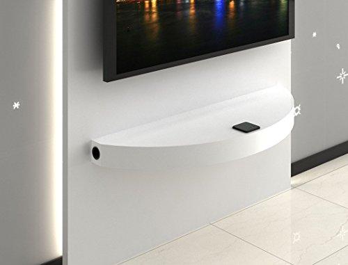 expendio Arcadios HiFi Wandboard, MDF/Spannplatte, weiß, 35 x 100 x 8 cm