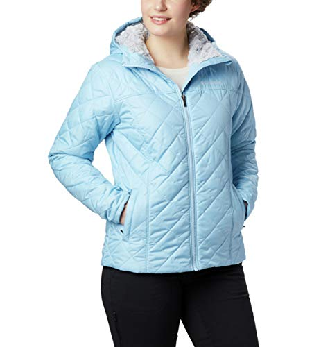 Columbia Women's Plus Size Copper Crest Hooded Jacket, Crystal Blue, 1X