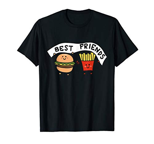 Best Friends Graphic Tees - Burger & French Fries Friendship T-Shirt