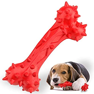 Funow HAOPINSH Dog Chew Toy Indestructible for Aggressive Chewers Strong Rubber Interactive Large Bone for Extreme Chewers Training Tough Long Lasting Teething Toys Dog Great Gift for Dogs