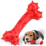 Jemesx Dog Chew Toys for Aggressive Chewers, Almost Indestructible Dog Bone Toy with Beef Flavor, Durable and Bite-Resistant Natural Rubber Teeth Cleaning Dog Toys for Medium Large Breed Dogs