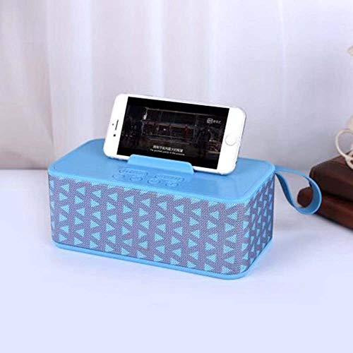 ZDY 2020 Neuer beweglicher drahtloser Lautsprecher Stoff Bluetooth-Lautsprecher Stereo-Sound-Box Lautsprecher-Karte instert TF-Karten-FM-Radio,Triangle Blue