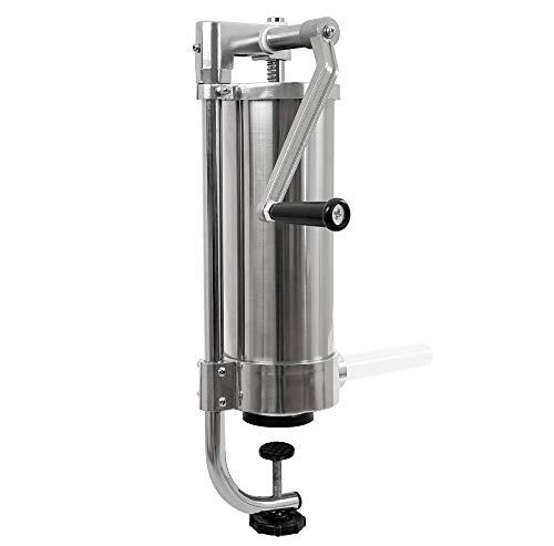 Zelsius - Embutidora Profesional manual de salchichas I Acero inoxidable I Cuatro tubos de llenado diferentes I Máquina con caja de cambios de 1 velocidad I Válvula de ventilación I 2 litros