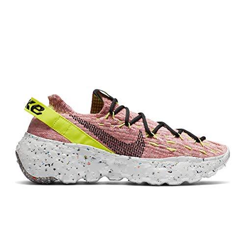 NIKE SPACE HIPPIE 04 Zapatos casuales para mujer, (Veneno de Limón/Negro claro Ártico Rosa), 41 EU