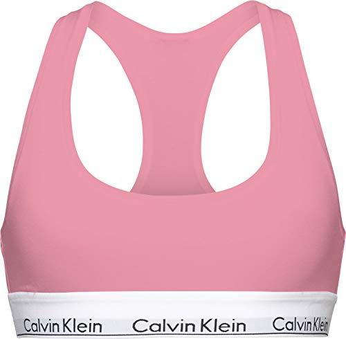 Calvin Klein Damen Unlined Bralette (Crossback) Geformter BH, Rosey Dream, M