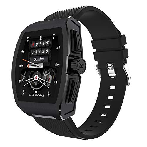 BNMY Smartwatch Relojes Inteligentes Mujer Hombre Actividad Monitores Temperatura Corporal Presión Sanguínea Oxigeno En Sangre Control De Música Llamada Bluetooth Compatible con Android iOS,Negro