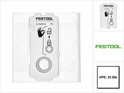 Festool SELFCLEAN Filtersack SC-FIS-CT MINI/MIDI-2/25 (5x 204308) für CT MINI und CT MIDI ab Baujahr 2019 25 Stück