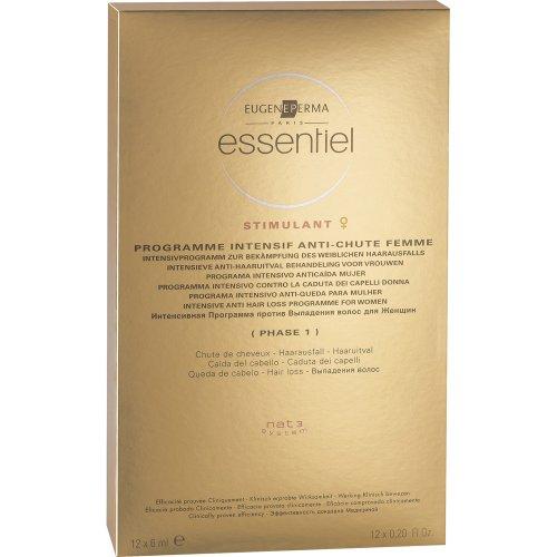 Essentiel - Programme Intensif Antichute Femme - Chute de Cheveux - 12x6 ml