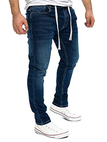 Yazubi Jungen Jogger Jeans Jogginghose JoggJeans Cargo Pant Jeggings Herren Sweathose Männer Jeansoptik Steve, Blau (Insignia Blue 194028), W33/L32