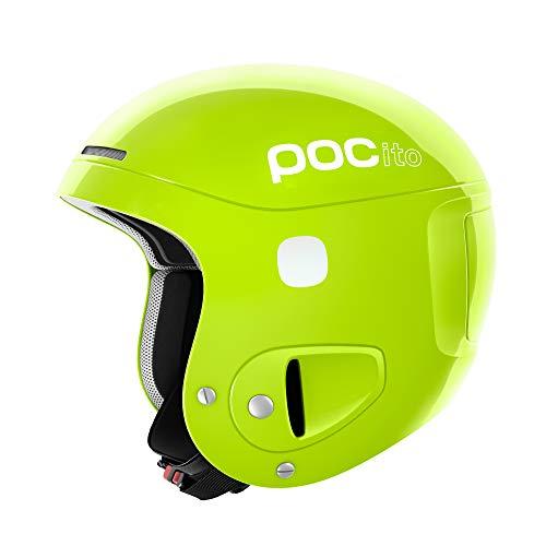 POC Pocito Skull, Casco da Sci Unisex-Bambini, Giallo (Fluorescent Yellow)/Verde, XS/S