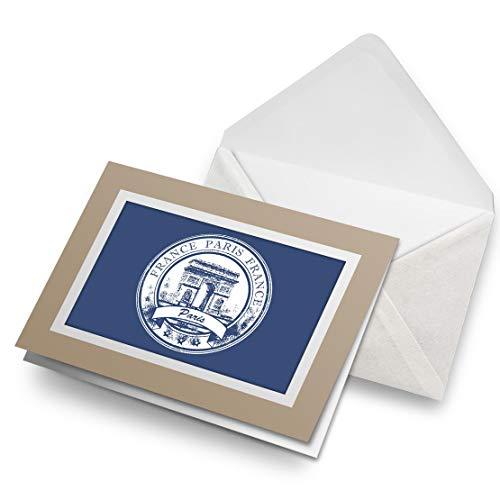 Awesome Greeting Cards Biege (inserto) – Paris Arco de Triunfo Francia tarjeta de felicitación en blanco para cumpleaños de niños y niñas #5926
