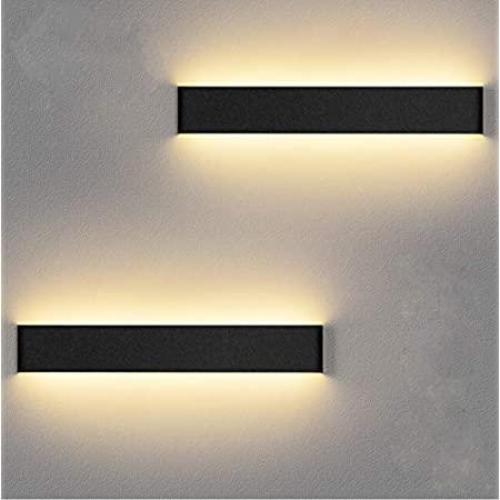 LEDMO Applique Murale Interieur LED 36CM 2 Pack Lampe Murale 3000K Blanc Chaud Moderne Up Down Appliques Murales 12W Luminaire Mural pour Chambre Salon Escalier Couloir