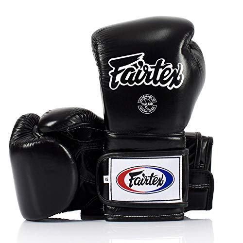 Fairtex Muay Thai - Guantes de boxeo estilo mexicano, color negro, 14...