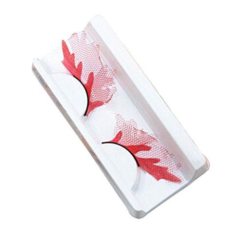 Ensemble de Style 3 Nouveau design Red Lace Creative Faux Cils Sticker