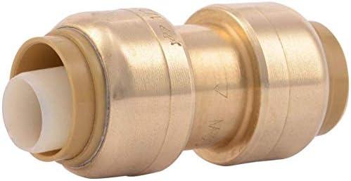 SharkBite U008LFA4 Tube Coupling 1 2 In Push To Connect Psi Dzr Lead Free 200 Deg F Brass 4 product image