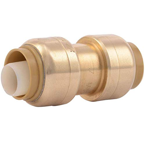 SharkBite U008LFA Straight Coupling Plumbing, 1/2 Inch, Pex Fittings, Push-to-Connect, Coupler,...