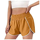 Yue668 - Pantalones cortos de deporte para mujer, con cintura elástica,...