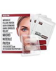 PATCH PRO Micro Needle Patch hyaluronzuur micronaald-oogkleppen voor fijne lijntjes, oogrimpels, kringen rond de ogen, voorhoofdrimpels, vouwvulpatches 8 stuks