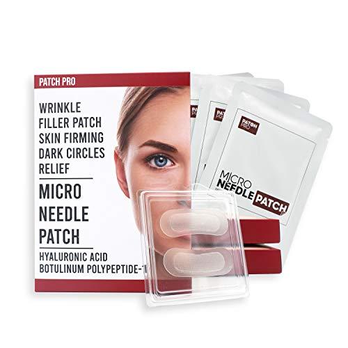 [PATCH PRO] Micro Needle Patch - Hyaluronsäure Mikronadel-Augenklappen für feine Linien, Augenfalten, Augenringe, Stirnfalten, Faltenfüller-Patches 8pcs