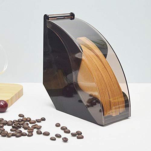 Kaffeefilter Halterung Holz Kaffeefilterhalter, Klein Kaffeefilter Box Aufbewahrung, Fächerförmige Kaffee Filtertütenhalter für Filtertüten, Kapazität: ca. 100 Stück