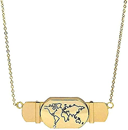 Collar Joyas Oro Amor Corazón Avión Tarjeta de viaje Deslizar Collares con dijes Collares de barra de acero inoxidable para mujeres Regalo Niñas Niño Collar