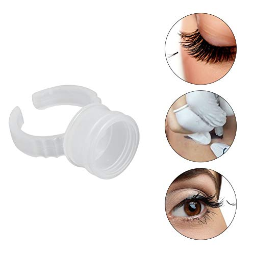 Tattoo Ink Cup, Professional 100/200/500pcs Disposable Eyebrow Nail Art Rings Pigments Holder Container Tool Large Size(500pcs)