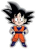 cartoon Chibi Goku Dragon Ball Z Car Bumper Sticker Decal 4'' X 5''