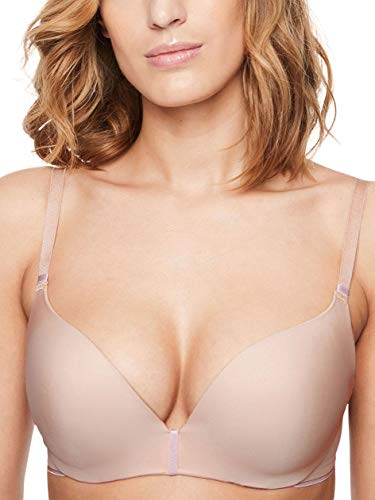 Chantelle Women's Absolute Invisible Smooth Push-Up Bra, Nude Blush, 32F (32DDD)