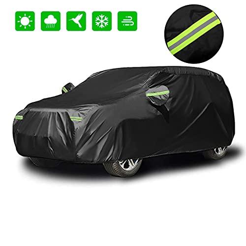 Neverland Funda Coche,Impermeable Cubre Coche Exterior para SUV Auto Car Cover con Tejido Oxford 420D Protección contra el Viento Nieve Polvo Lluvia UV Estiércol Universal Cubierta para Coche XL(210')