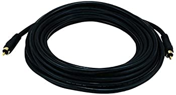 Monoprice 25ft Coaxial Audio/Video RCA Cable M/M RG59U 75ohm  for S/PDIF Digital Coax Subwoofer & Composite Video  Black  100621