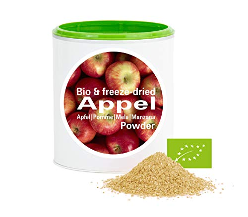 Apfelpulver – Bio Apfel gefriergetrocknet |bio organic| freeze-dried apple| good-superfruit von good-smoothie| 100% frucht |ohne zusatzstoffe + viele Inhaltsstoffe| 120g