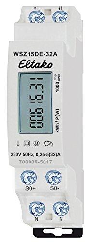 Eltako 28032615 Wechselstromzähler 32A ungeeicht WSZ15DE-32A, 230 V
