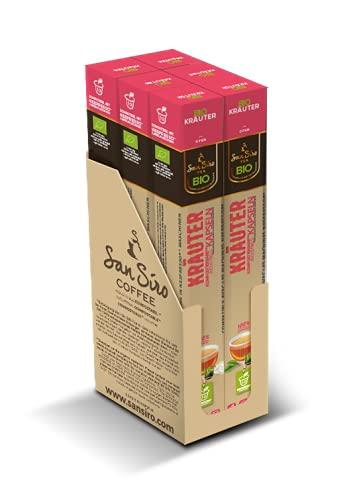 SanSiro Bio Tee KRÄUTER   100% industriell kompostierbar   60 Kapseln   Teekapseln für Nespresso®- und SanSiro® Smart Kapselmaschinen   Nachhaltige Teekapseln