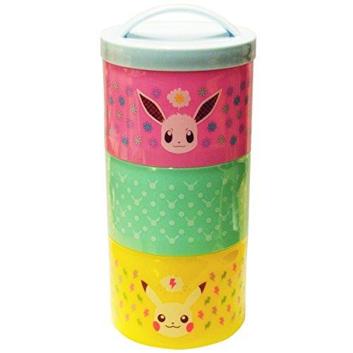 Pokemon Bottle Type Three Tier Lunch Box 480ml Pikachu...