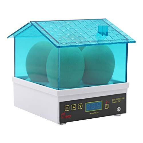 M.Z.A 4 Mini-Ei-Inkubator, kleine Geflügelbrut-Temperaturregelungs-Brutmaschine Digitaler automatischer Mini-Ei-Inkubator für Hühnervögel Wachteln