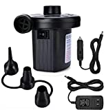 Air Pump Air Mattress Pump for Inflatables Blow up Pool Raft Bed Boat Toy, Quick-Fill Electric Air Pump for Outdoor Camping, Inflatable Cushions, Air Mattress Beds, Boats, Swimming Ring(AC/DC 50W)