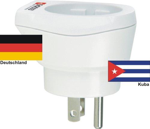 hoogwaardige design reisadapter Duitsland op Kuba 220-230V Schuko-stekker omzettingsstekker reisstekker netstekker - Duitsland - Cuba